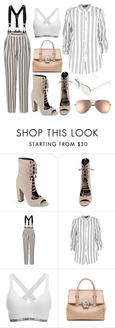 """""""Lounging around👘"""" by lucya-knight ❤ liked on Polyvore featuring Kendall + Kylie, Marc Jacobs, Boohoo, Calvin Klein, Versace and Quay"""