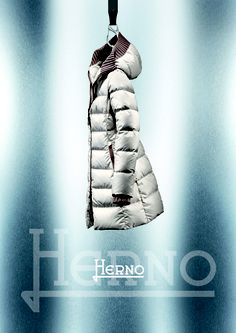 Herno F/W 12-13  Long slim down jacket with hood