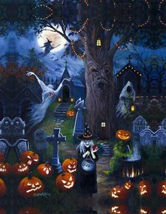 Halloween Jigsaw Puzzles For Adults are the ideal pastime for the Spooky Halloween Holiday! Enjoy these Halloween Jigsaw Puzzles with family and friends! Retro Halloween, Porche Halloween, Fröhliches Halloween, Vintage Halloween Decorations, Halloween Prints, Halloween Painting, Holidays Halloween, Halloween Themes, Spooky Halloween Pictures