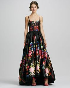 Addie Floral-Print High-Low Gown by Alice + Olivia at Neiman Marcus.