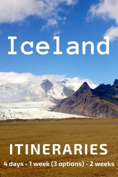 Iceland Itinerary - 5 suggestions