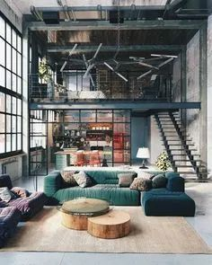Rustic industrial decor and design ideas 38 Home Design, Design Loft, Loft Interior Design, Industrial Interior Design, Industrial Interiors, Interior Exterior, Home Interior, Blog Design, Contemporary Interior