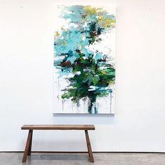 """Poolside in Key West"" 60x34 available @fpcontemporary #losangeles #la #keywest #abstractart #modernart #contemporaryart #abstractlandscape #abstract #painting #blue #landscapepainting #tropical #art #artist #abstractpainting #interiordesign #interiors #contemporaryinteriors #carlosramirez"