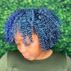 I colored my hair using Gemini Naturals Vegan Temporary Color Gel in the colors Ocean and Cobalt. Temporary Hair Color, Cobalt, Gemini, My Hair, Curls, Crochet Earrings, Ocean, Colors, Beautiful