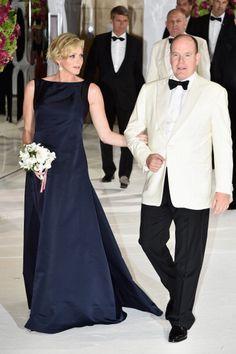 2014 - Princess Charlene of Monaco and Prince Albert II of Monaco attend the Red Cross Ball