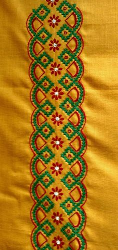 zodiacmind: Fun facts about your sign here Embroidery On Kurtis, Kurti Embroidery Design, Hand Embroidery Flowers, Hand Work Embroidery, Embroidery Saree, Indian Embroidery, Hand Embroidery Stitches, Hand Embroidery Designs, Embroidery Patterns