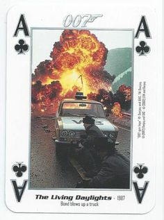 JAMES BOND 007 - SINGLE PLAYING CARD - FILMS 11 - 19 - ACE OF CLUBS