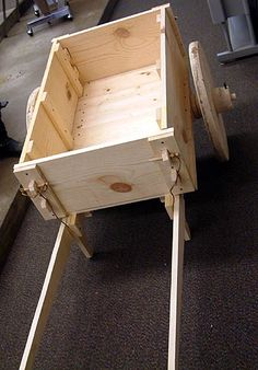 """Medieval carts used to be used for all sorts of barging and barrowing. This is a somewhat small cart, but could easily be upsized as needed. - """"A very excellent duplication of a Medieval wooden cart built by Charles of Westermark"""" and presented at Crusader Archaeology Symposium"""