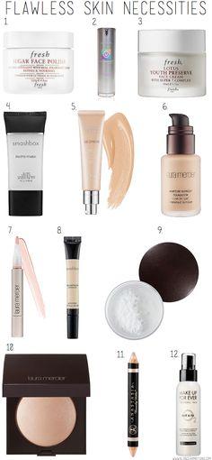 BLONDER AMBITIONS FLAWLESS SKIN NECESSITIES. foundation. skin. dewy. makeup. clear skin. fresh skin.