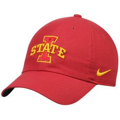 differently b039f edbf5 Men s Nike Cardinal Iowa State Cyclones Dri-Fit Authentic Adjustable Hat