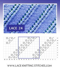 Pattern includes written instructions and chart Lace Knitting Stitches, Lace Design, Chart, Crochet, Pattern, Knitting, Dots, Tejidos, Accessories
