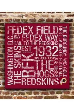 0634c65cc A whole lot of history in this  Redskins piece of art! Redskins Baby