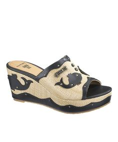 Take a look at this Black Anna Sui Fish Slide - Women by Hush Puppies on #zulily today!