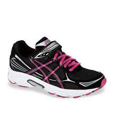 96647a692a70c0 ASICS Black   Pink Pre Galaxy 5 PS Running Shoe - Girls