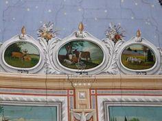 Grain Merchants' Synagogue in Bacău - Interior - Vault. Date: Origin: Romania Ashkenazi Jews, Zodiac Sign Test, Jewish Art, Persecution, East Africa, Romania, Taurus, Astrology, Photograph