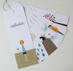 "Blanca Gomez 2012 calendar. 4""x11.3"". Cute calendar. Cute size. $25"