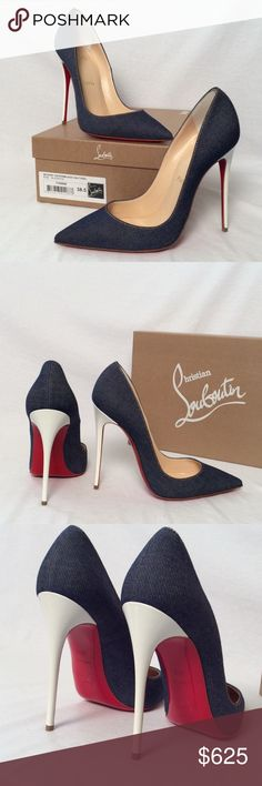 Christian Louboutin So Kate 120 Denim Pumps ✨NWB✨ Brand New Christian Louboutin So Kate 120 Denim Pumps w White Heels Color: Denim/White Heel: 120mm Size: EUR 38.5 100% Authentic ! Includes box and dust cover Christian Louboutin Shoes Heels