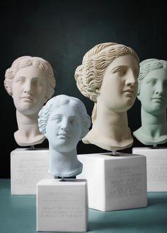 Angel Sculpture, Sculpture Art, Ancient Goddesses, Window Display Design, Goddess Of Love, Ceramic Teapots, Art Installation, Monuments, Designs To Draw