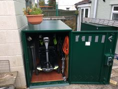 Customer shared image of the bike storage x 2  #storage #shed #metalshed #secure