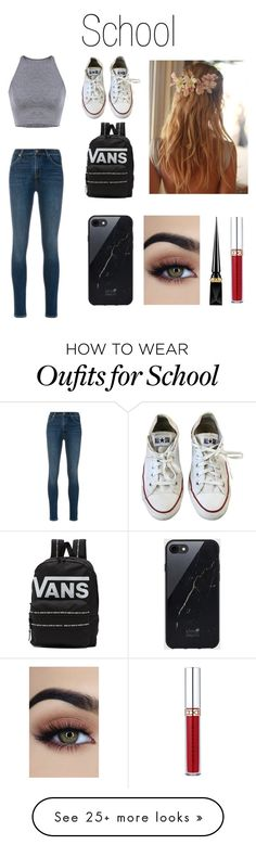 """""""School look"""" by couchpatato on Polyvore featuring J Brand, Converse, Vans, Sefton, Christian Louboutin and Anastasia Beverly Hills"""