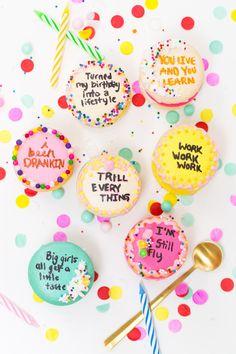 Drake on cake inspired birthday cake macarons! | Party ideas, birthday cake ideas and more!