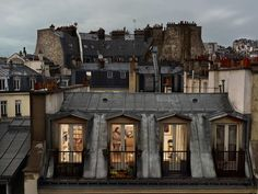 Permission to snoop: Gail Albert Halaban's gaze into Parisian apartments allows the mind to wander. Read the story via Slate.Learn more about Gail Albert Halaban: Paris Views on the Aperture book page. Art Parisien, Paris Neighborhoods, Paris Rooftops, Grande Hotel, My Little Paris, Belle Villa, Paris Apartments, Parisian Apartment, Interior And Exterior