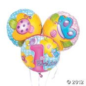 Maybe with hot pink and lime balloons