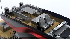 SENTORI 50 RS is a 50 feet flybridge motor yacht with a length of 15.3 meters, a beam of 5.0 meters and a displacement of 18 tons.engines: 2 x 900 PS YANMAR, max. speed: 40 knots.customer: SENTORI YACHTSavailable on request exterior design by motion …