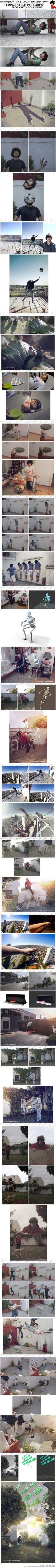 Photoshop + 3d studio + imaginación = imágenes imposibles de Martin De Pasquale - Photoshop + 3d studio + imagination = impossible pictures from martin de pasquale