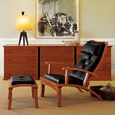 The Thos. Moser showroom on Arlington Street features the finest in woord furniture
