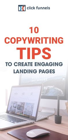 Copywriting helps engage readers - and landing pages are usually the introduction you have with potential customers and leads. One of the most overlooked aspects of the landing page is the copywriting. We tinker with branding color, perfect videos, and make sure our images are on point, but the writing can sometimes overwhelm. Here are 10 ways to improve your copywriting on your sales funnel landing page. #salesfunnel #copywriting #landingpagedesign Make More Money, Make Money Online, Business Tips, Online Business, Sales And Marketing, Marketing Ideas, Perfect Gif, Blogger Tips, Inbound Marketing