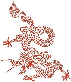 Chinese Dragon Stencil (Large)