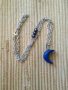 Sapphire Blue Moon Necklace by VampyGarden on Etsy