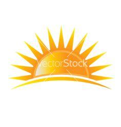 Sun rise logo vector 1526248 - by Deskcube on VectorStock®
