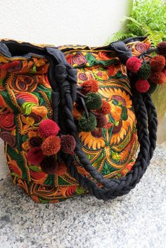 Ethnic Bags - Bohemian style shoulder bags Handbags and tote bags from Thailand on Etsy, $14.99