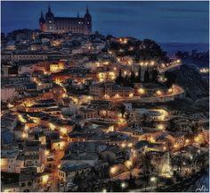 Toledo, Spain by Manuel Lancha #light #night