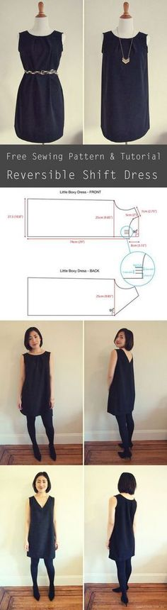 Running Belt DIY – an Easy Sewing Tutorial Free sewing pattern – reversible shift dress. The dress can be worn 2 ways: pleated crewneck or [. Sewing Patterns Free, Free Sewing, Clothing Patterns, Dress Patterns, Free Pattern, Knitting Patterns, Pattern Dress, Pattern Sewing, Crochet Patterns