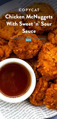 McDonald's Chicken McNuggets are iconic. So why not recreate them at home? McNugget clones wouldn't be complete without a sauce, so we threw in a recipe for sweet 'n' sour sauce, too. Copycat Recipes, Sauce Recipes, Chicken Recipes, Cooking Recipes, Healthy Recipes, Budget Recipes, Restaurant Recipes, Dinner Recipes, Entree Recipes