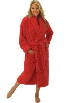 Del Rossa Women s Super Plush Microfiber Fleece Bathrobe Robe Buy Now Women s  long haired microfleece bathrobe from Alexander Del Rossa. 7f2c19738