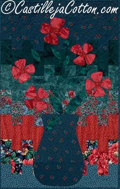 Flower Quilted Wall Hanging  Bargello Flowers by castillejacotton, $49.00