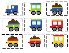 Preschool Printables: Trains, Planes and Automobiles Printable transportation theme Transportation Activities, Train Activities, Toddler Activities, Trains Preschool, Preschool Math, Train Crafts Preschool, Train Template, Kindergarten, Lesson Plans For Toddlers