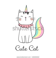 Find Draw Illustration Character Design Cute Cat stock images in HD and millions of other royalty-free stock photos, illustrations and vectors in the Shutterstock collection. Cat Doodle, Doodle Cartoon, Valentines Watercolor, Baby Boy Fashion, Cartoon Styles, How To Draw Hands, Character Design, Doodles, Hand Painted