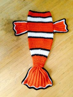Manta de ganchillo de Nemo por WhooLovesCrafts en Etsy
