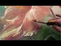 How to paint flowers Online course Artist Saharov