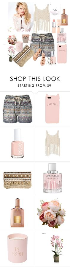 """Untitled #30"" by selmaadis ❤ liked on Polyvore featuring Kate Spade, Essie, Ancient Greek Sandals, Skemo, Jimmy Choo, Tom Ford and Silvana"