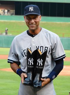 The Rangers also present Derek Jeter with a pair of cowboy boots during the July 30 ceremony.