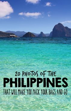 Philippines asia 20 Photos that will you pack your bags and go - 2015 is the year to visit the Philippines! Book your ticket before everyone does, the Philippines is becoming the next big travel destination in South East Asia. Voyage Philippines, Les Philippines, Philippines Travel, Oh The Places You'll Go, Places To Travel, Travel Destinations, Places To Visit, Palawan, Travel Goals