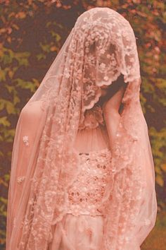 ☫ A Veiled Tale ☫ wedding, artistic and couture veil inspiration - lace bridal veil