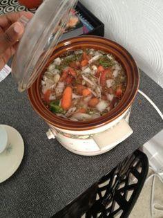 Crock Pot Vegetarian Lentil Soup. Photo is not good but the recipe is.