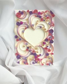 Quilling Greeting Card  Paper Handmade Card  Love Card  от QllCard